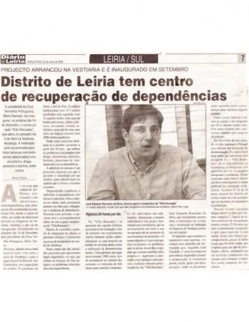 Distrito de Leiria tem centro de recuperação de dependências